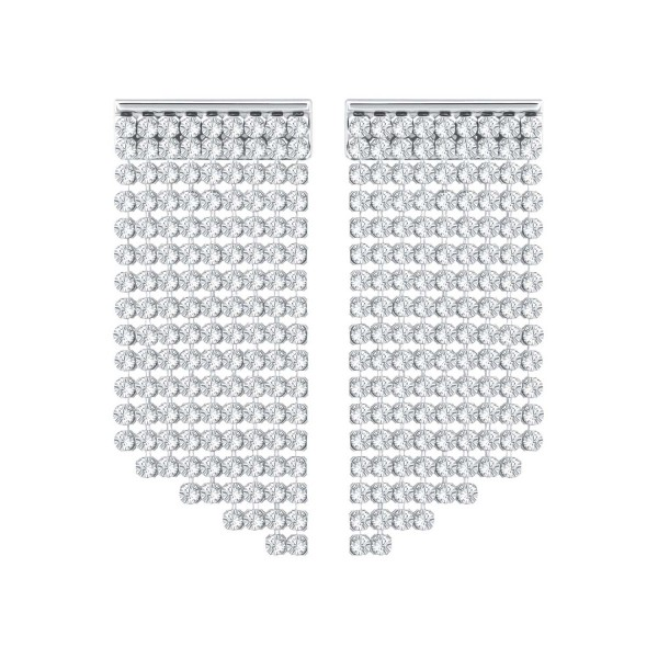 SWAROVSKI FIT OHRSTECKER SHRT CRY/PDS , PALLADIUM , CRYSTAL 5289716