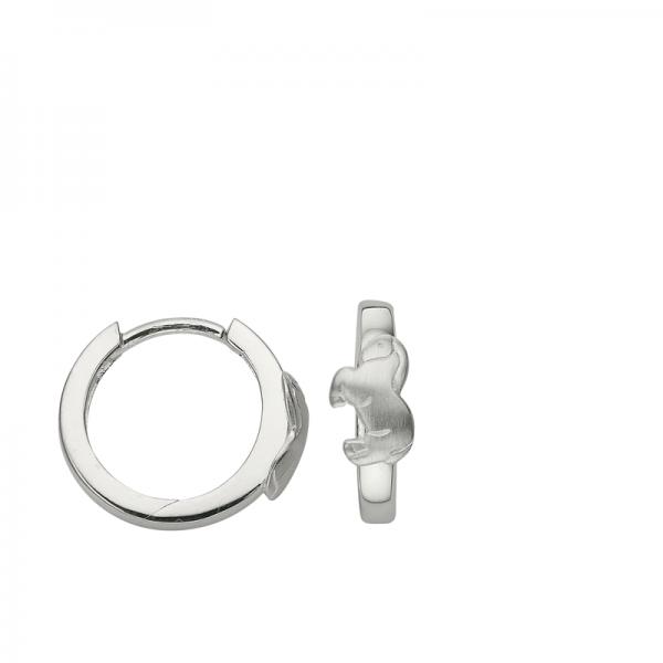 CEM 925 er Silber Creolen Pferd BCR900522