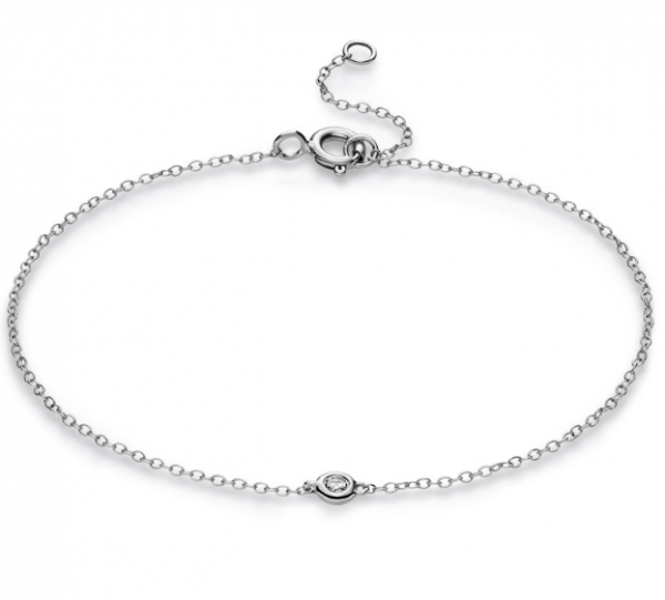 Diamant Schmuck Armband 18 kt ,1 Brill. 0,03 ct