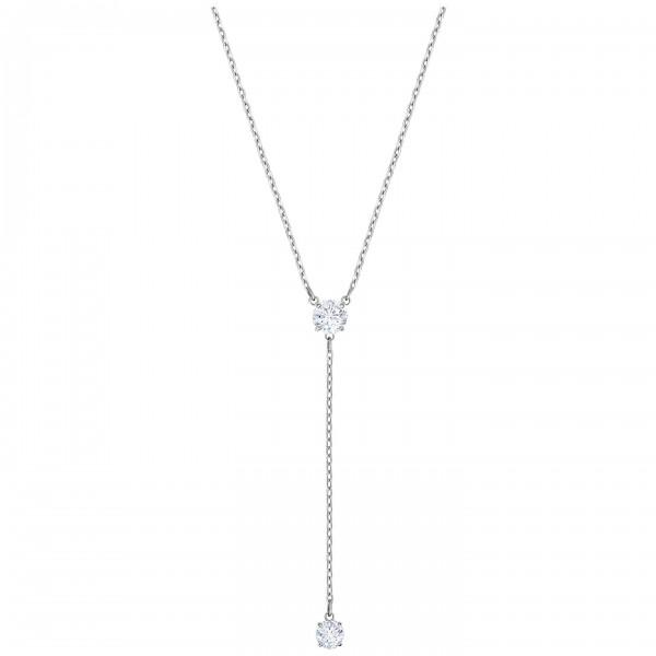 Swarovski Attract Halskette Y, Rhodium, CZ White 5367969