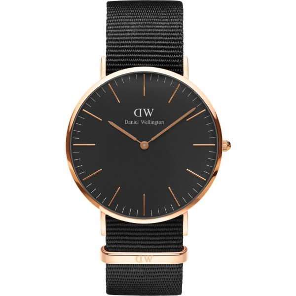Daniel Wellington Herrenuhr Classic Black Cornwall DW00100148