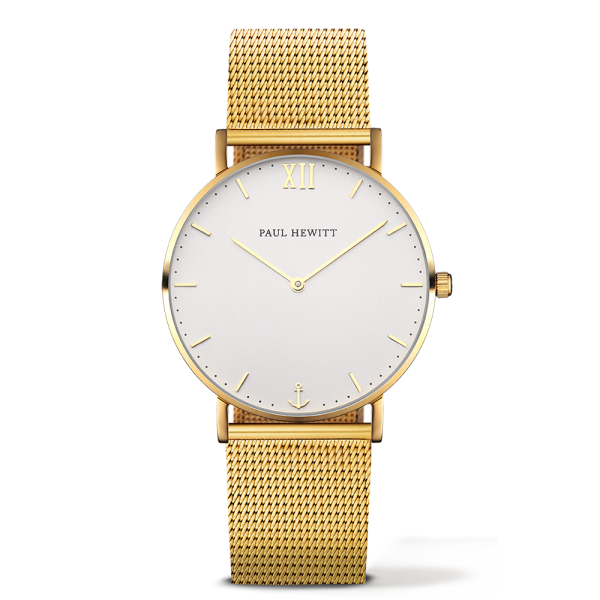Uhr Sailor Line White Sand IP Gold Metallband IP Gold, PH-SA-G-St-W-4M