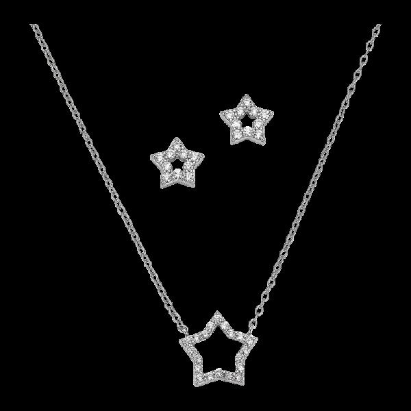 CEM 925er Silber Kette Set Stern BGT906206