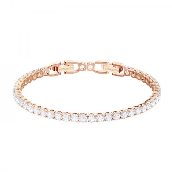 Swarovski Tennis Armband, weiss, rosé Vergoldung 5464948