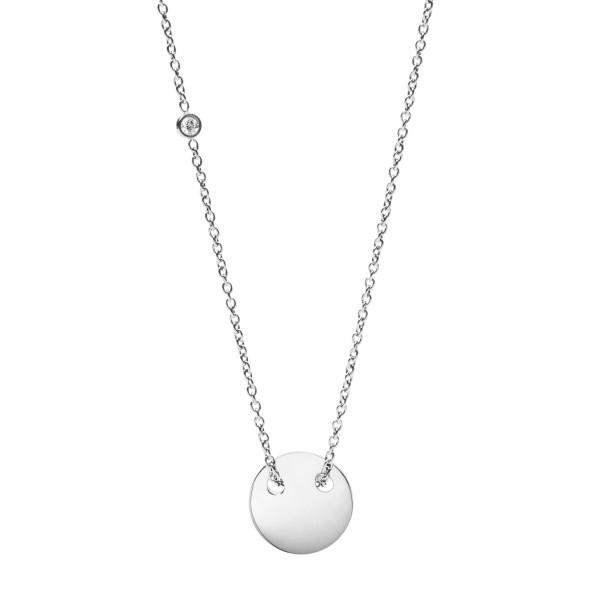 Fossil Damenkette JF02565040 Edelstahl Silber