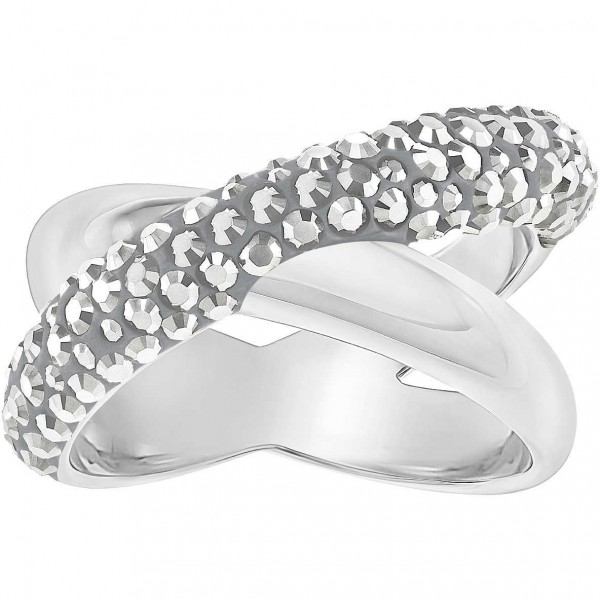 Swarovski Crystaldust Ring Cross, Gr. 52, Roségold, Crystal light crome, 5372886
