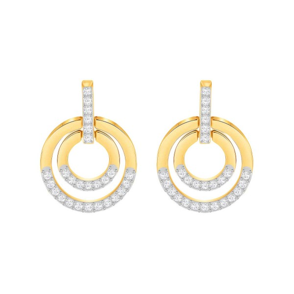 SWAROVSKI CIRCLE OHRSTECKER MED CRY/GOS , GOLD , CRYSTAL 5290188
