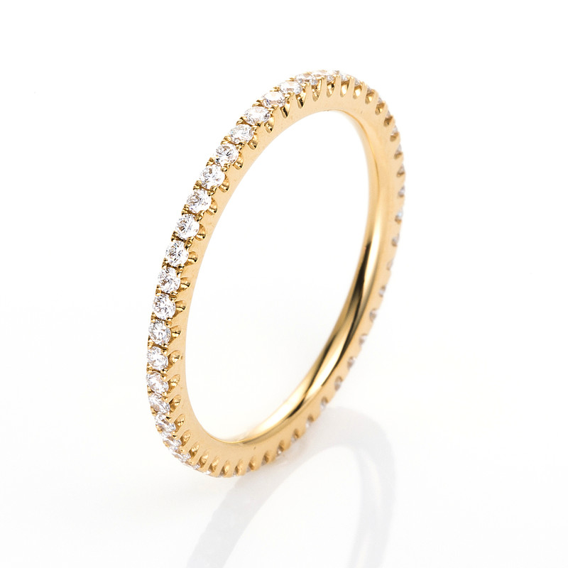 memoire voll ring 750er gelbgold 18kt 0 39ct ring gr e 53 memoire voll ringe diamant. Black Bedroom Furniture Sets. Home Design Ideas