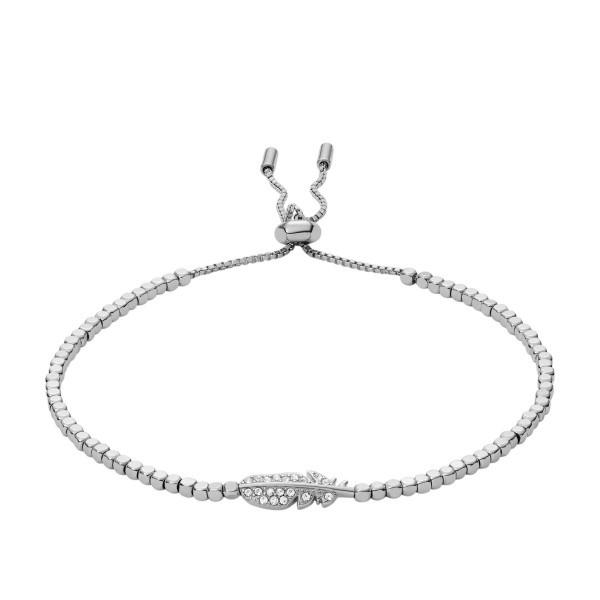 Fossil Damenarmband JA6933040 Mixed Material Silber