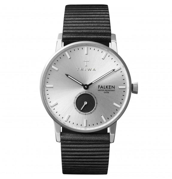 Triwa Unisexuhr Charles Falken Black Stripe Classic Armbanduhr TRFAST106WC010112