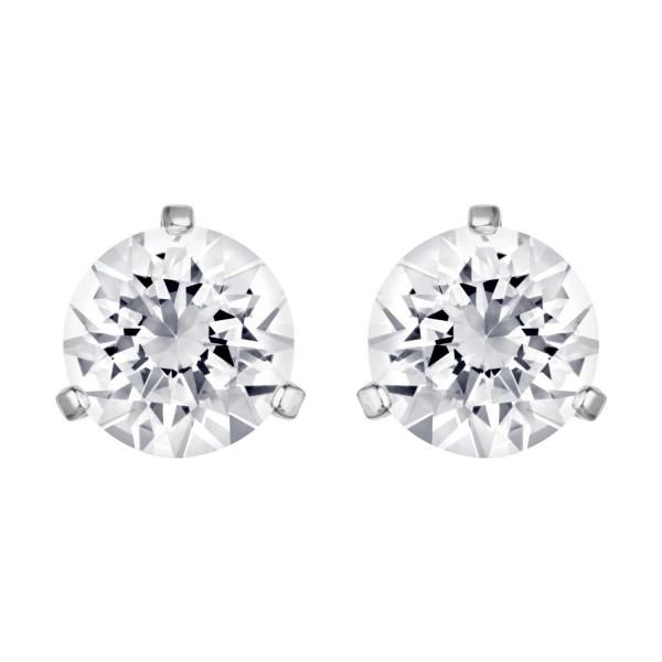 Swarovski Solitaire Ohrstecker, Rhodium, Crystal, 1800046