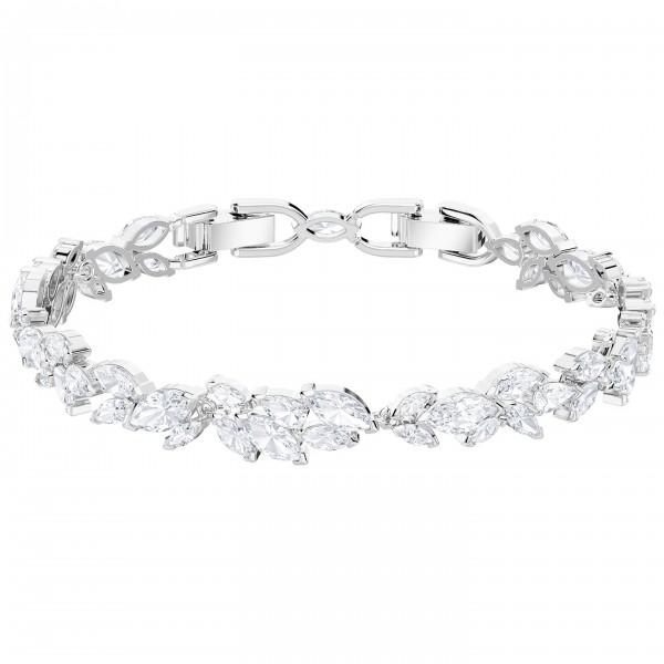 Swarovski Louison Armband, weiss, rhodiniert, M, 5419244