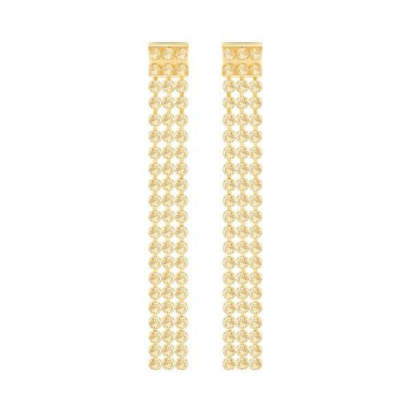 SWAROVSKI FIT OHRSTECKER LNG CRY GSHA/GOS , GOLD , CRYSTAL GOLDEN SHADOW 5364807