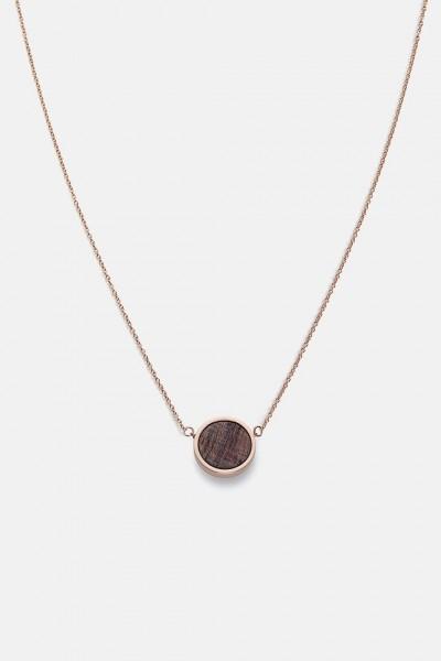 Kerbholz Damenschmuck Circle Necklace Rosewood Shiny Rosegold GEOCIR1095