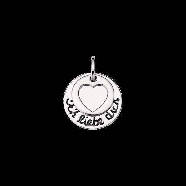 CEM 925er Silber Gravurplatte mit Herz BAH905401
